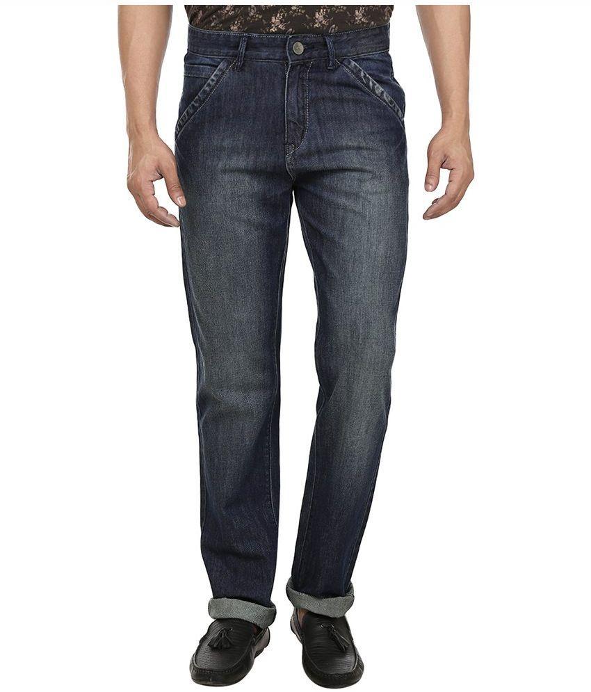 Fever Blue Regular Fit Faded Jeans