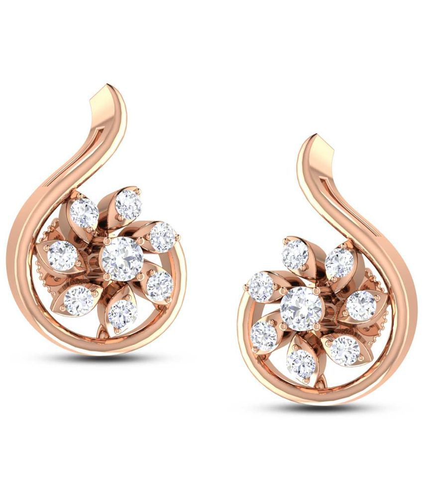 Jisha Yellow 18Kt Gold Studs