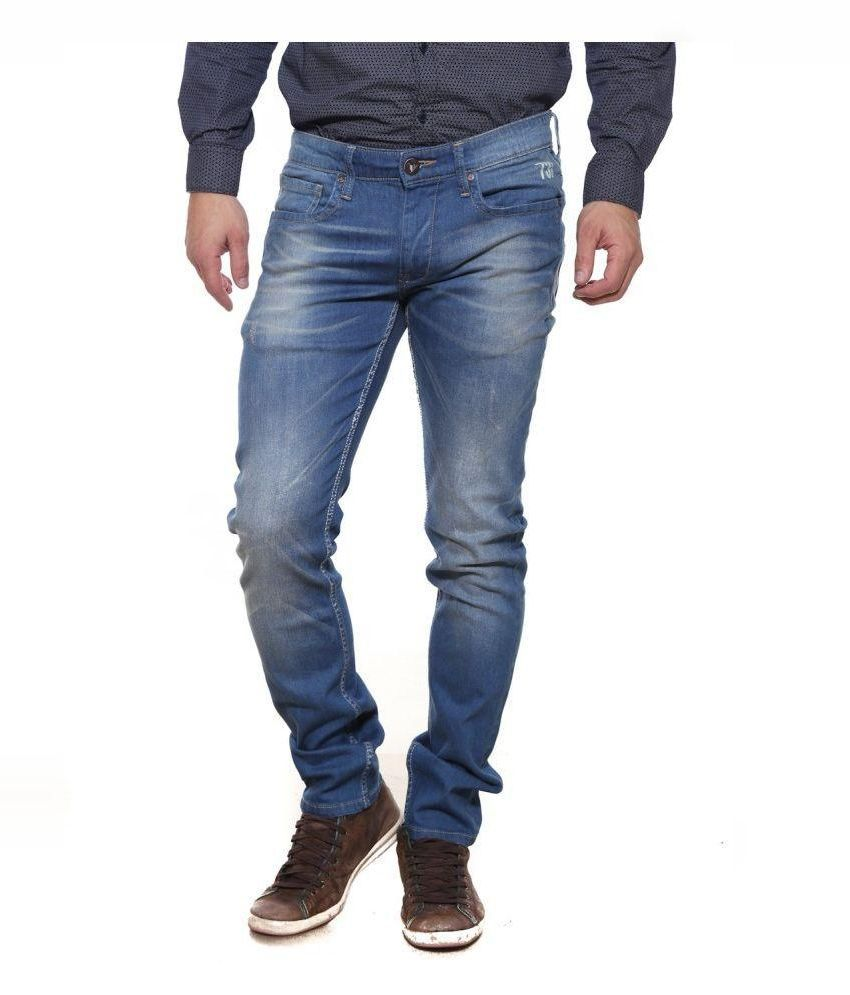 Pepe Jeans Blue Slim Fit Washed Jeans
