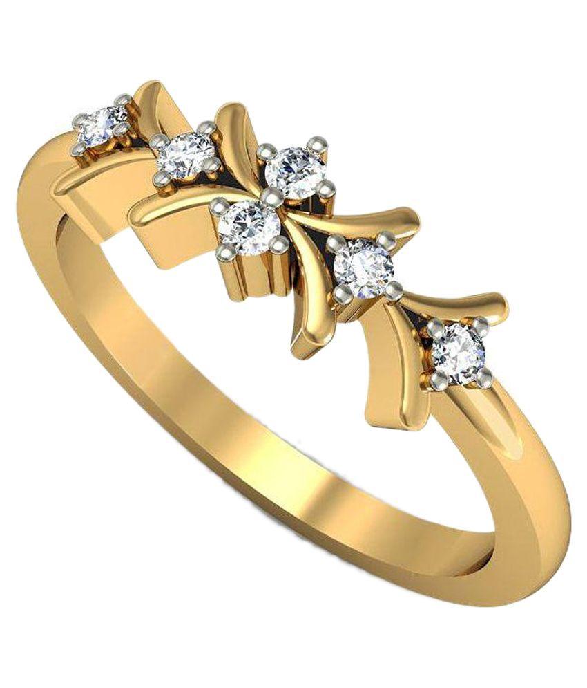 Rasav Jewels 14kt Gold Diamond Ring