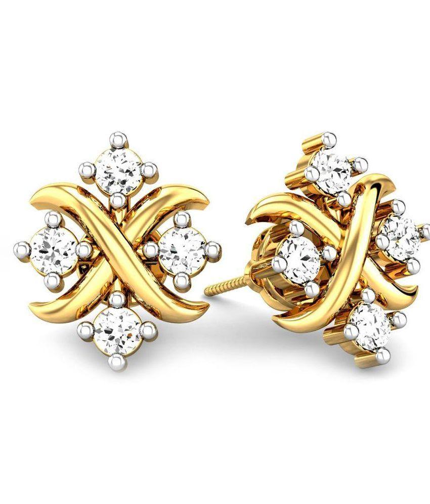 Samaira Gems & Jewels Yellow 18Kt Gold Studs