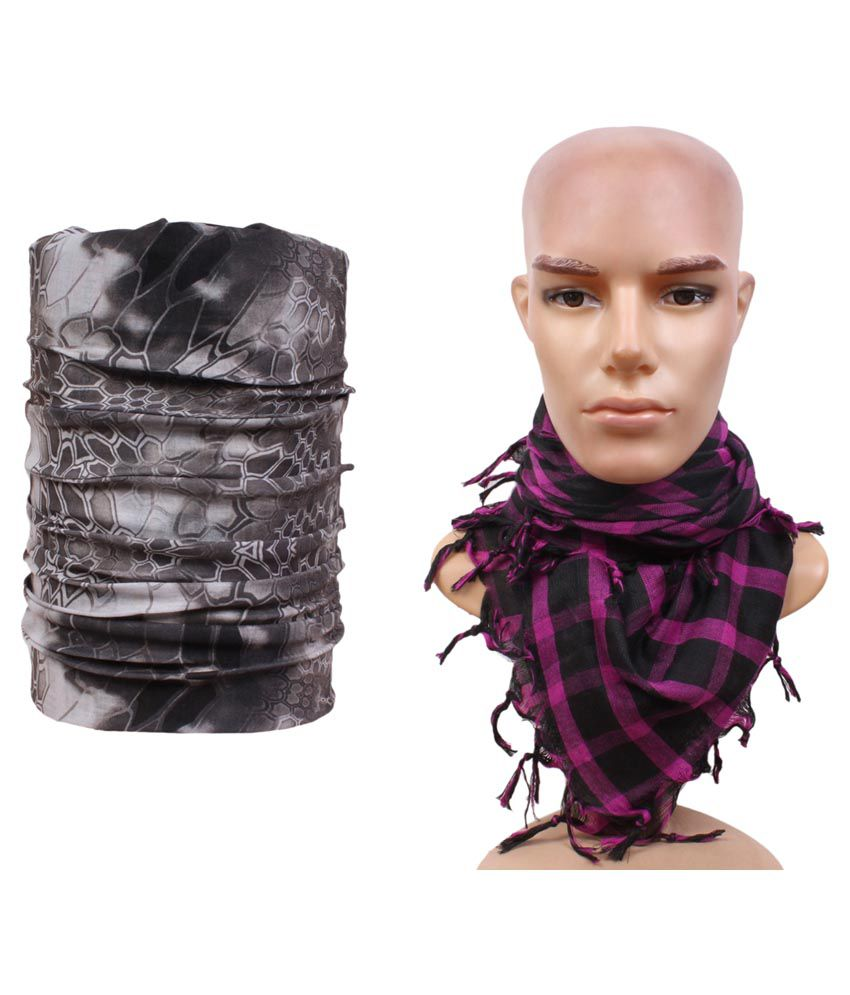 Sushito Multicolor Polyester Headwrap with Scarf
