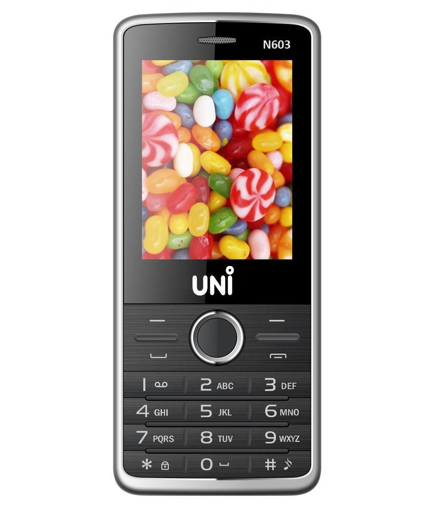 UNI DUAL SIM 2.4 inch FEATURE PHONE N603-Black