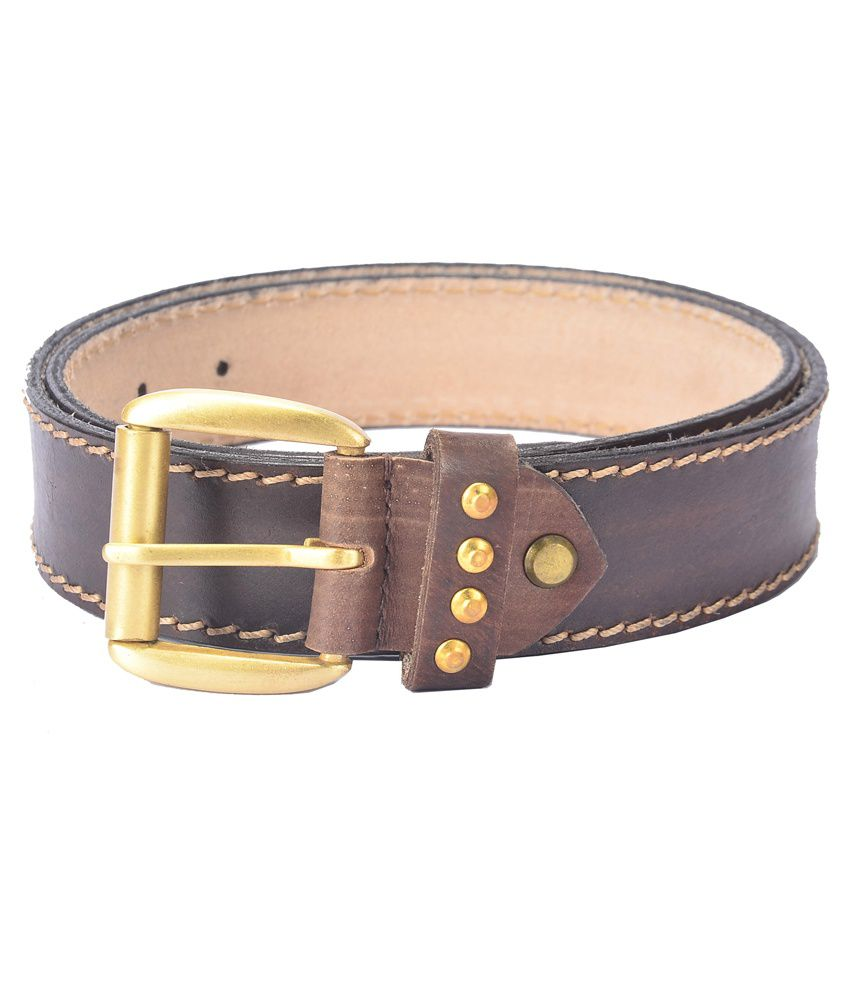 Hidelink Brown Leather Formal Belt for Men