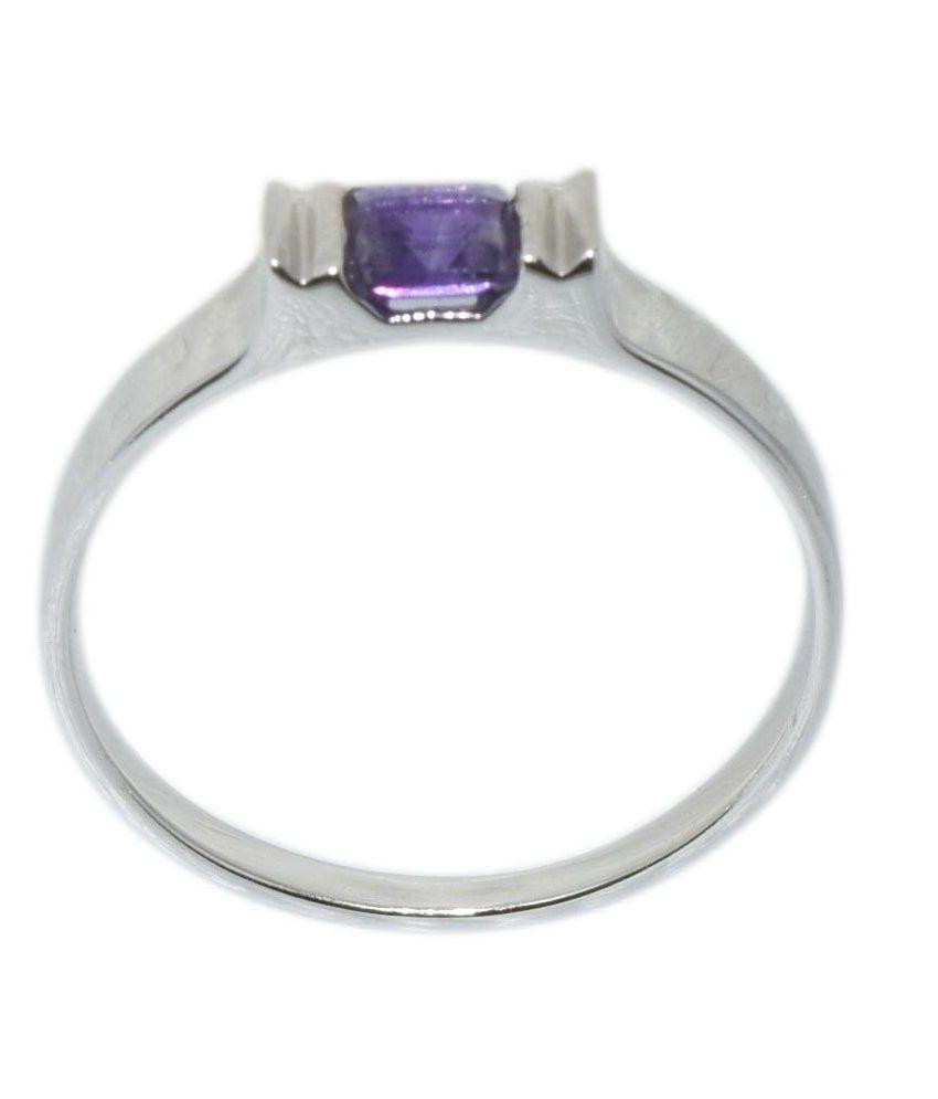 Shine Jewel Amethyst Stone 92.5 Sterling Silver Ring