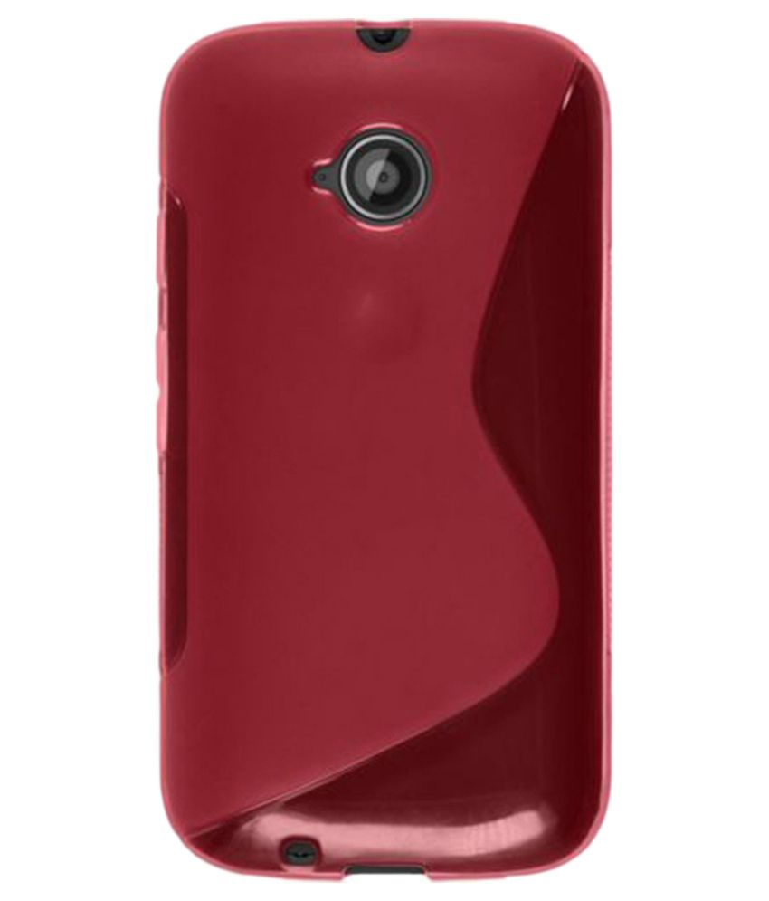 brand new 3b1b7 1bb3e Ziaon Back Cover for Motorola Moto E (2nd Gen) 4G - Red