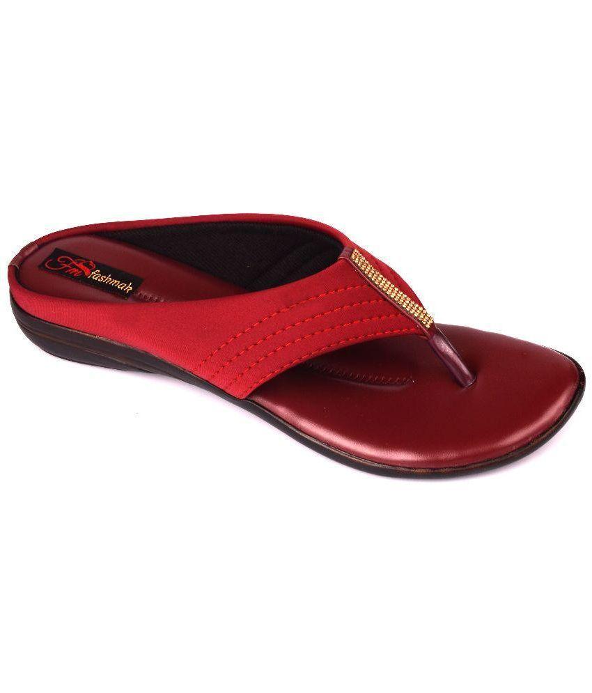 FashMak Red Flats