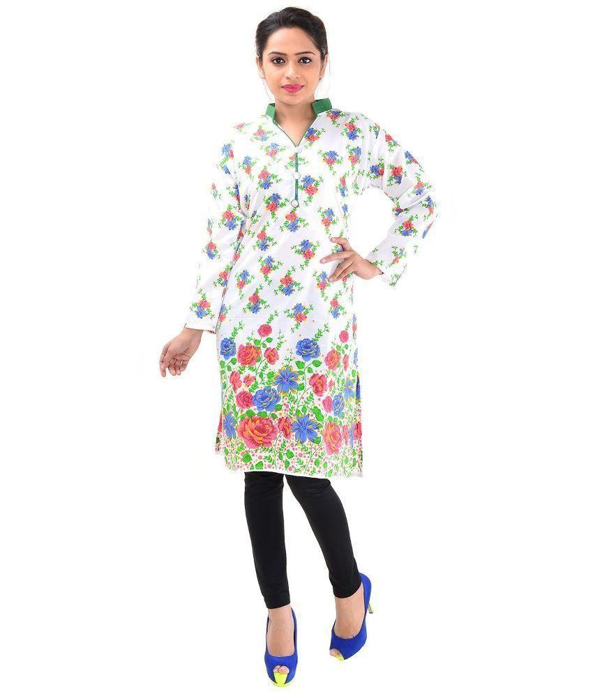 Pakiza Design Multicoloured Cotton Straight Kurti