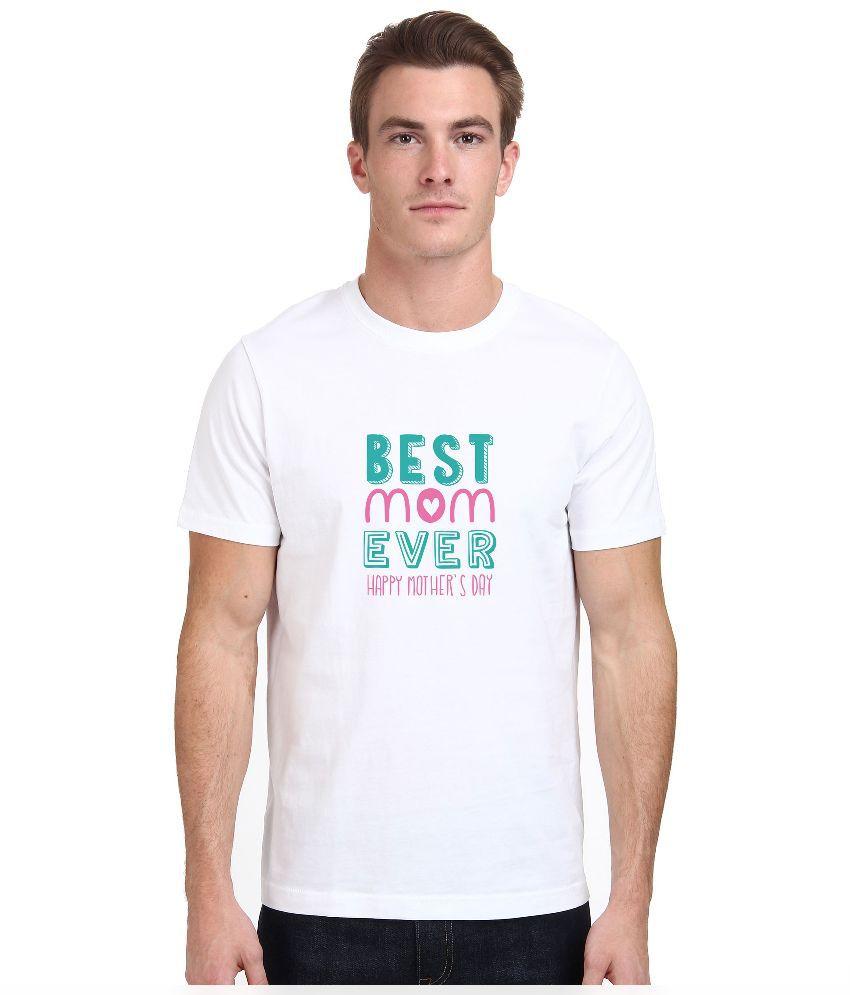 Redfool Fashions White Round T Shirt