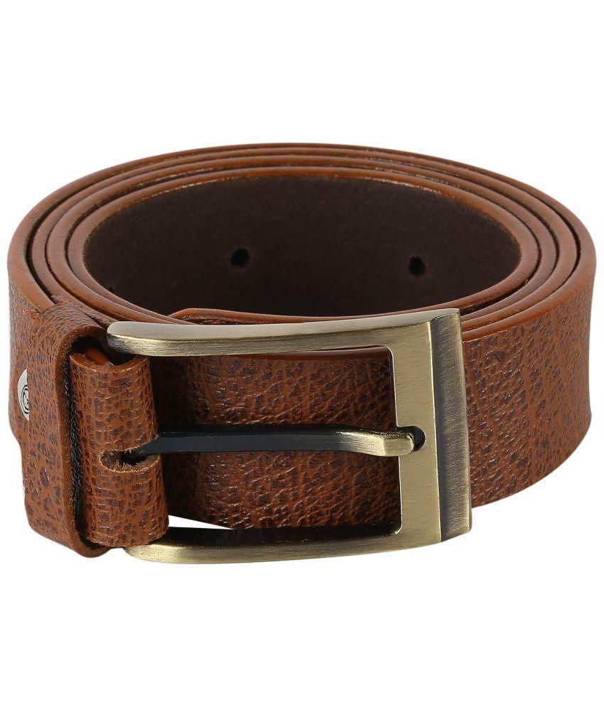Tie & Cuffs Tan Genuine Leather Belt for Men