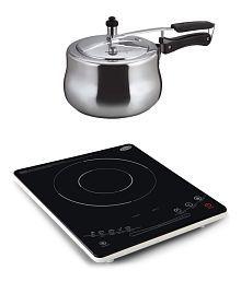 Glen GL3079 Induction Cookers +Alda Aluminum Pressure Cooker 3 ltr.