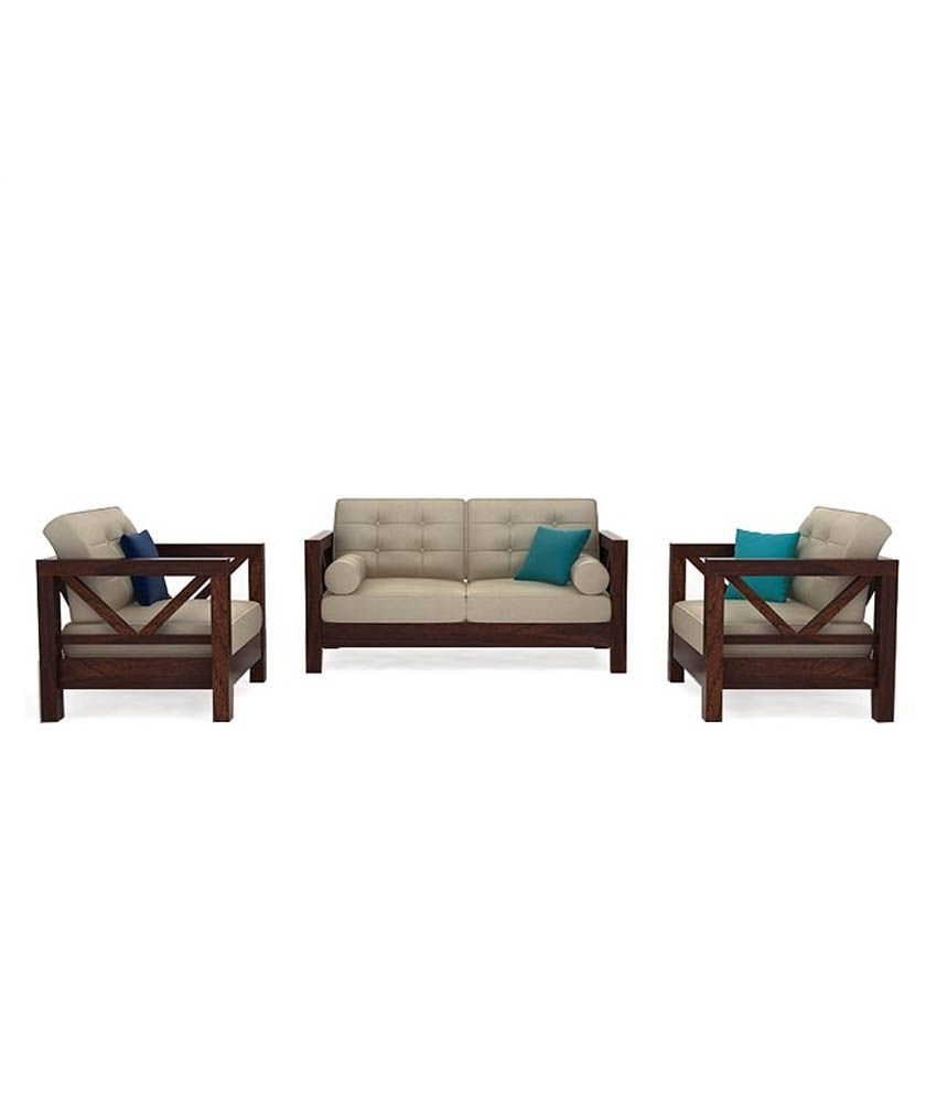 Ethnic India Art Mia Soild Wood 5 Seater Sofa Set With
