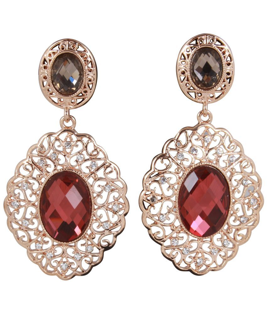 Jazz Jewellery Gold Alloy Drop Earrings