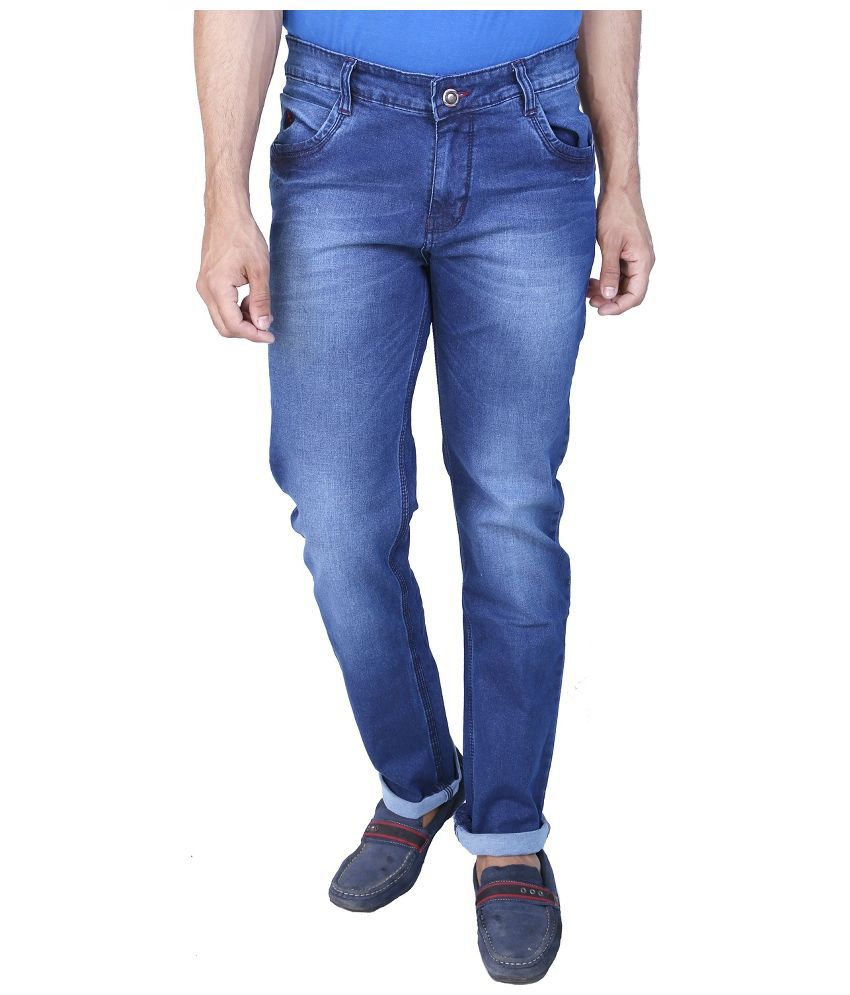 RECTUS Blue Slim Fit Washed Jeans