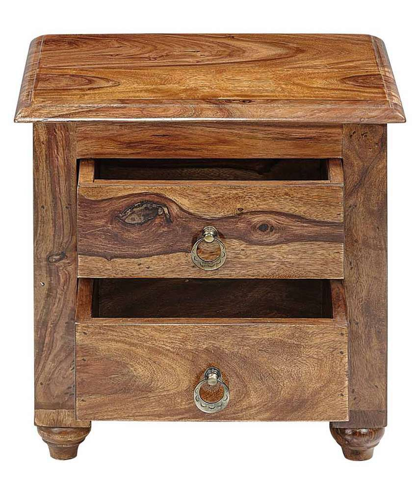 Natural Living Thyme Solid Wood Bedside Table