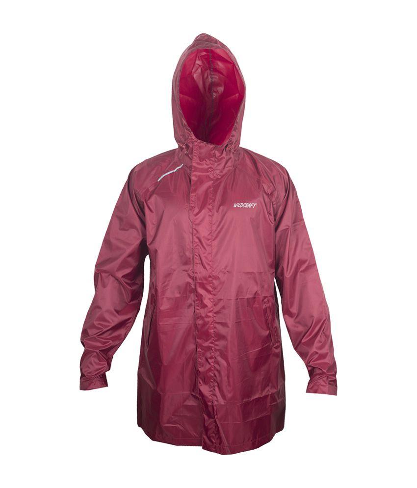 Wildcraft Basic Plus Raincoat - Monk Red
