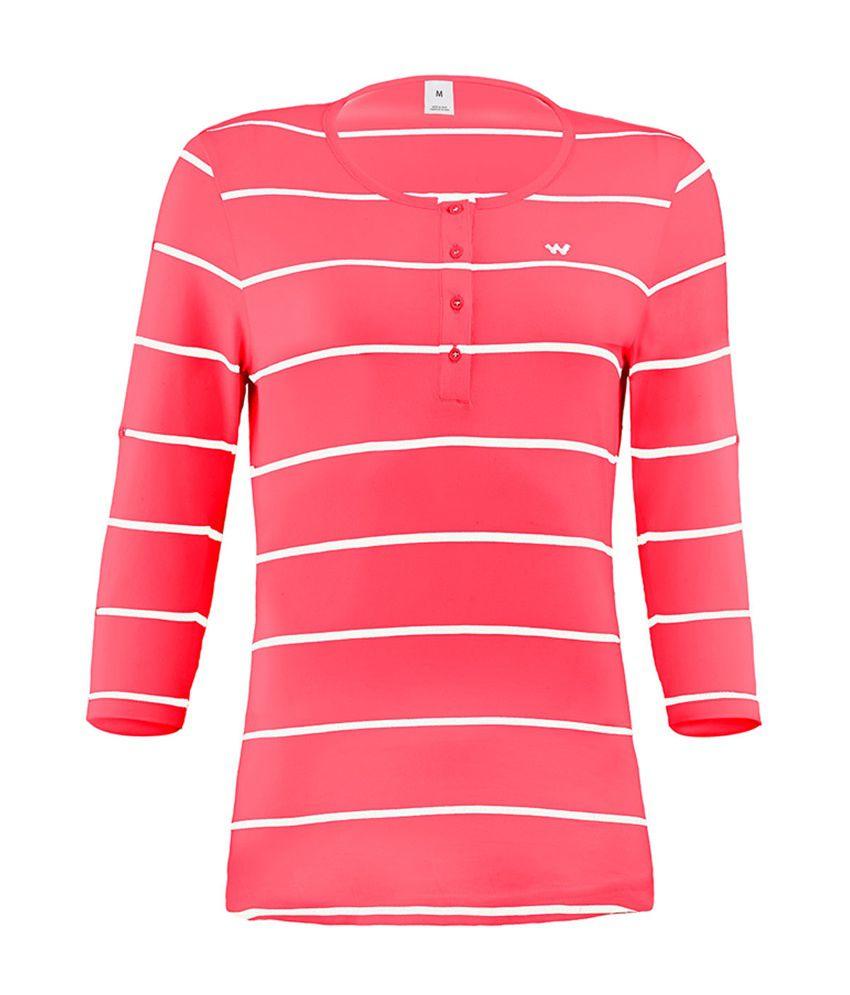 Wildcraft Essential Henley T-Shirt - Red