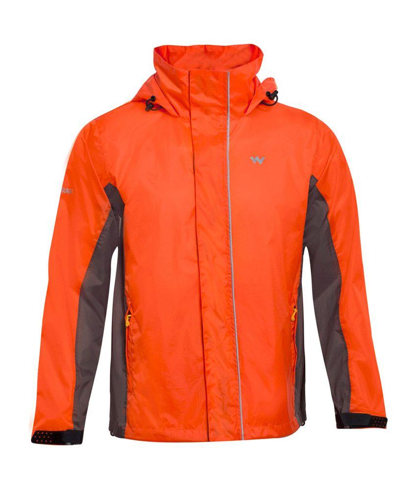 Wildcraft Orange Rain Jacket