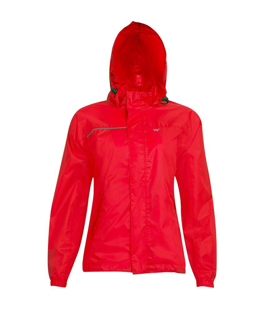 Wildcraft Women's Red Rain Jacket