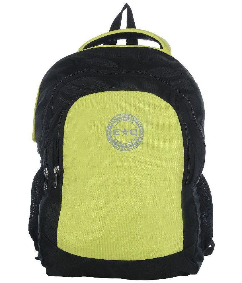 Estrella Companero Black P.U. Laptop Backpack