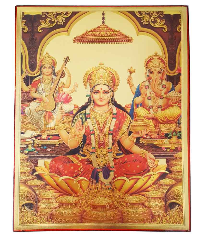Gold Art 4 U Laxmi Ganesh Painting