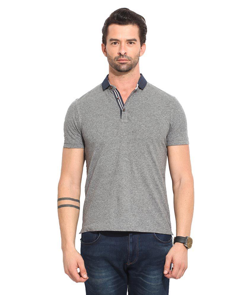 Leo Sansini Grey Henley T Shirt