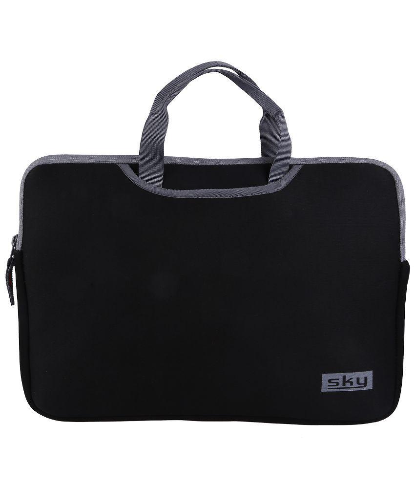 Sky BLKB101 Black Fabric Laptop Sleeve