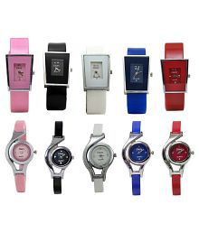 Glory Multicolour Analog Watch - Pack of 10