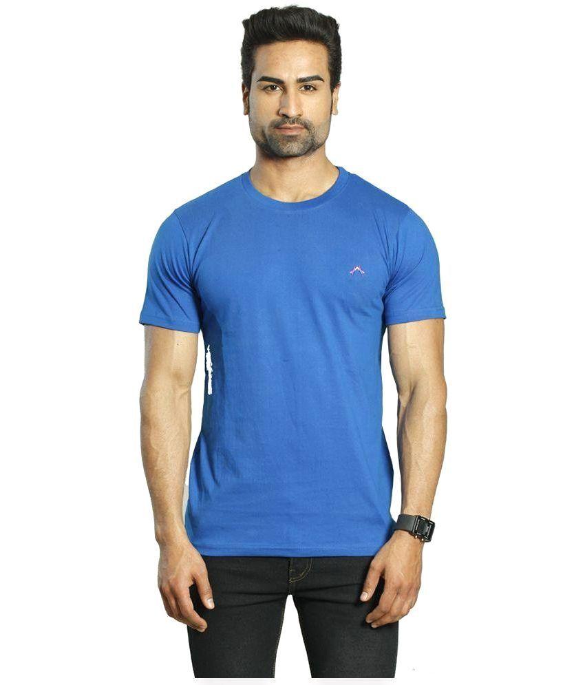 Albiten Blue Round T Shirt