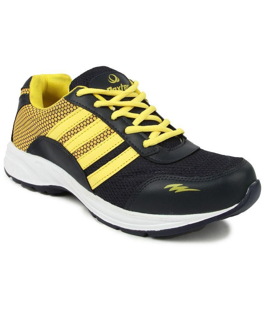 World Wear Footwear Black Running Shoes