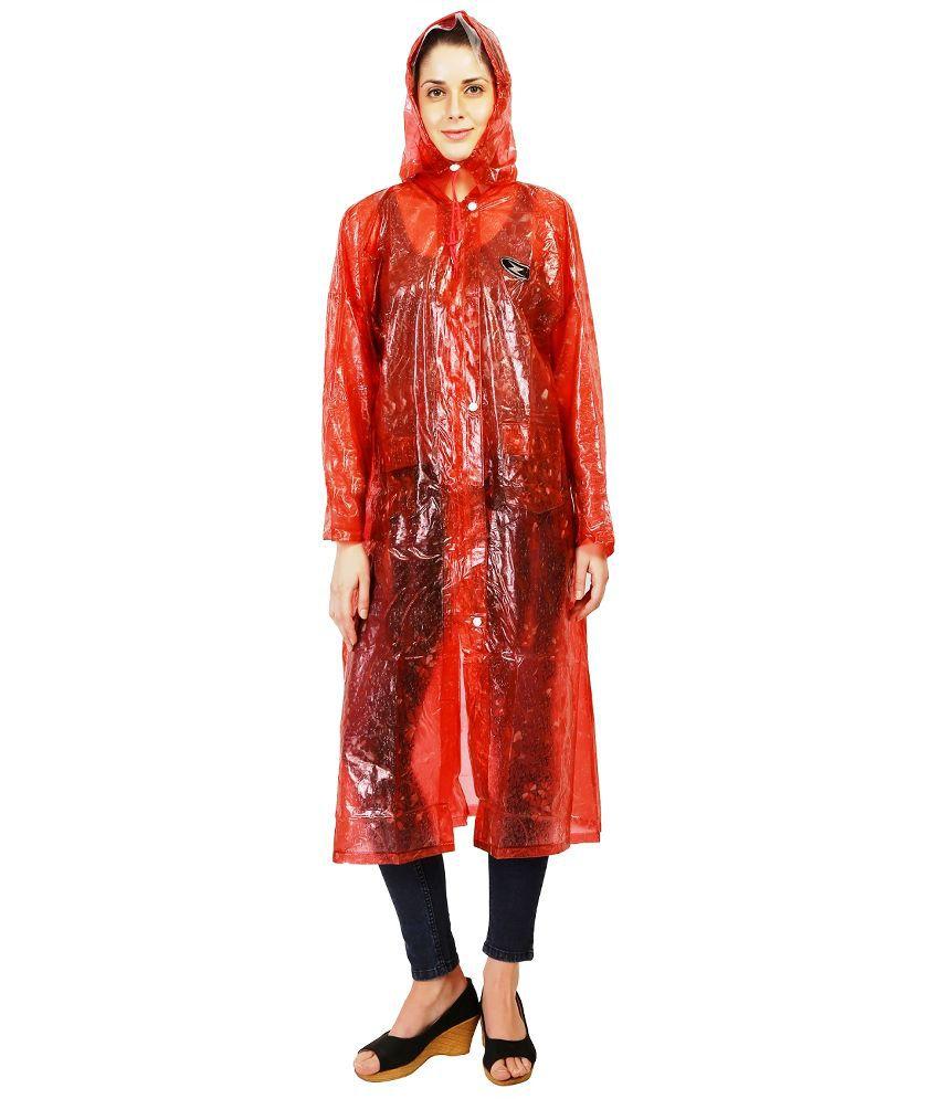 Zeel Red Waterproof Raincoat