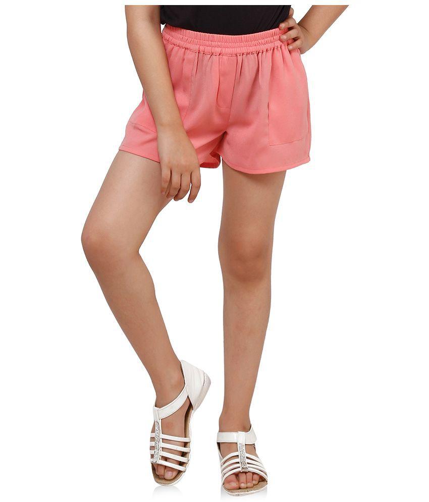 Oxolloxo Peach Polyester Shorts