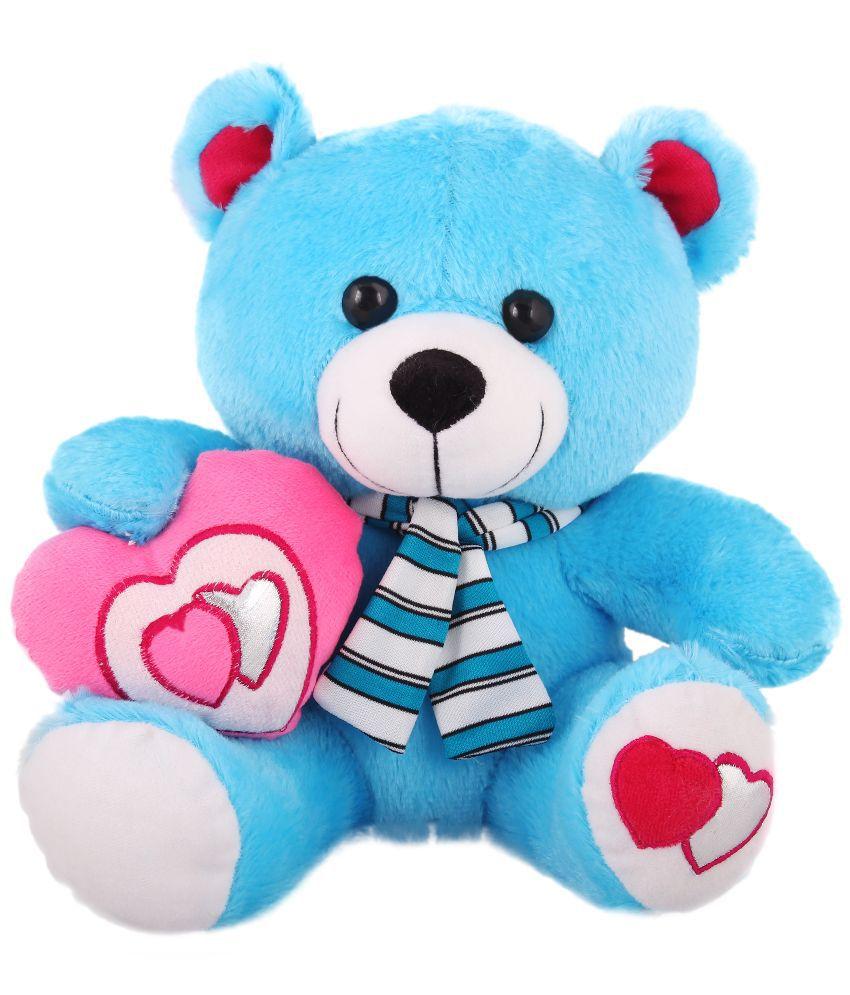 Tabby Toys Blue Cute Teddy bear stuffed love soft toy for ...