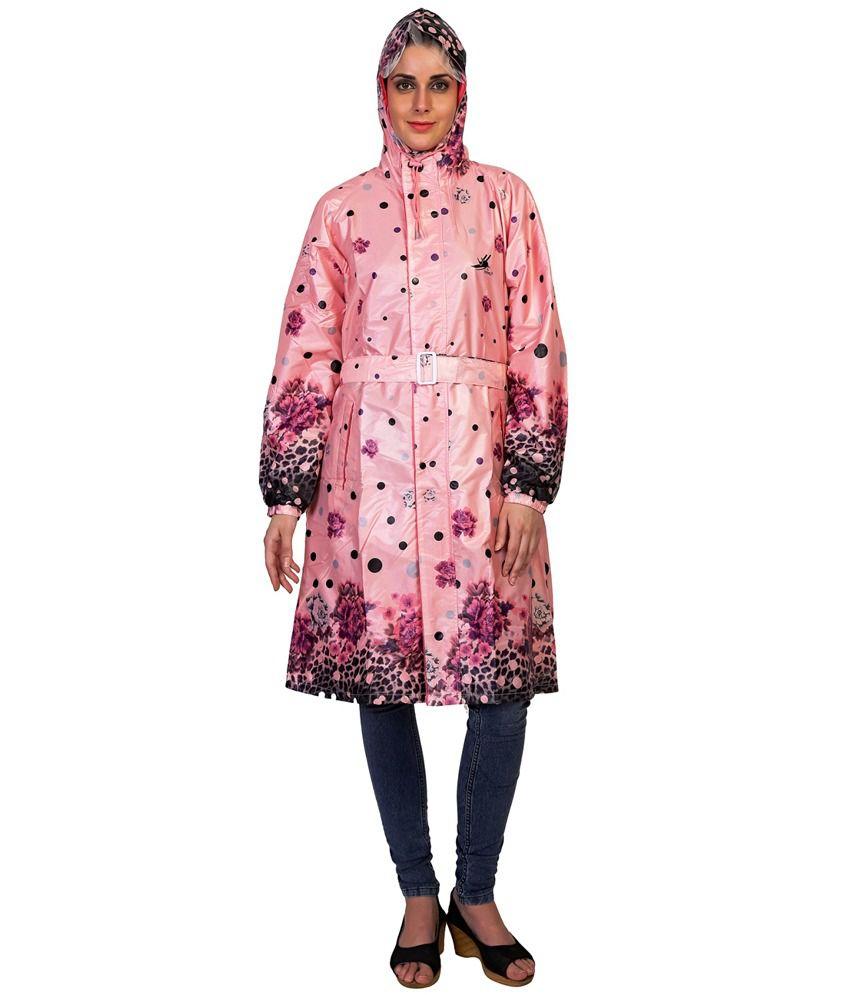 Zeeel Pink Polyster Raincoat