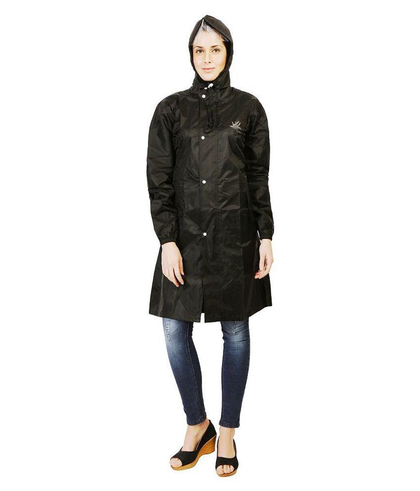 Zeel Black Waterproof Raincoat