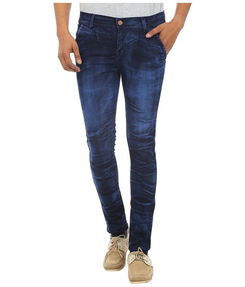 Zuricch Blue Slim Fit Washed Jeans