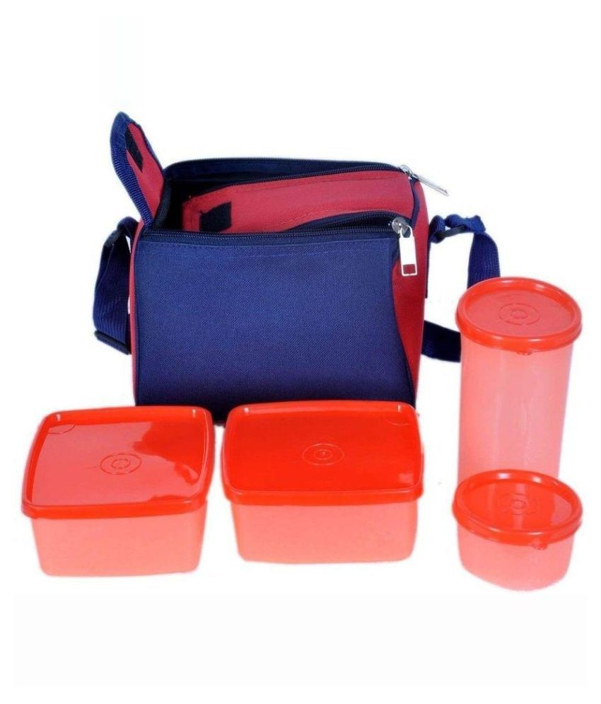 Grabodeal Orange Virgin Plastic Lunch Box