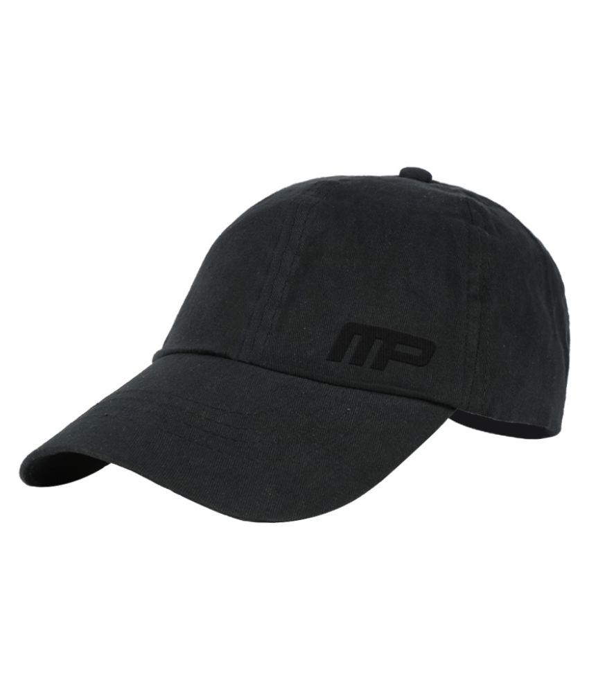 Mango People Black Cotton Baseball Cap