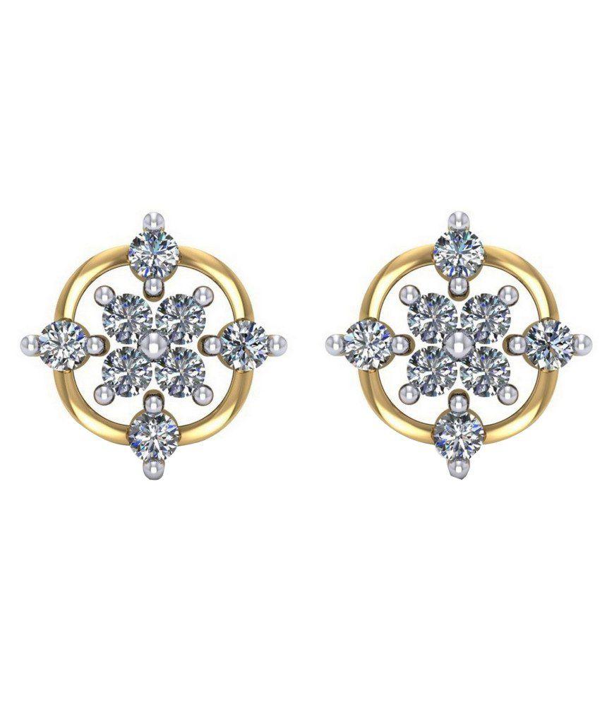 Gehnabox 18kt Gold Traditional Studs Earrings