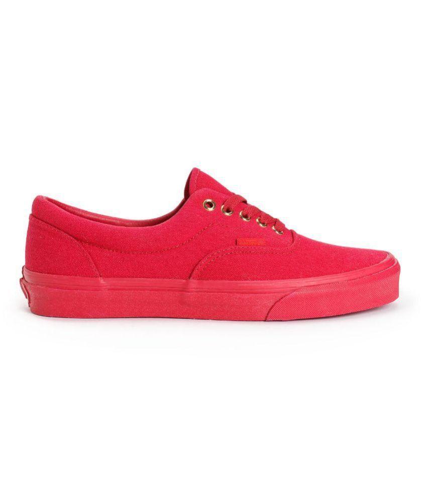 Vans Red Canvas Shoes - Buy Vans Red Canvas Shoes Online at Best ... 57b20d042