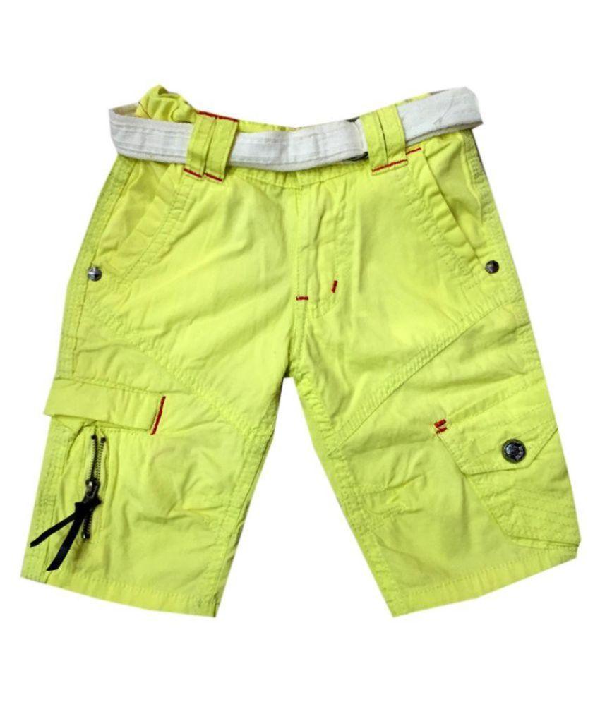 Vodoo Kids Green Cotton Shorts