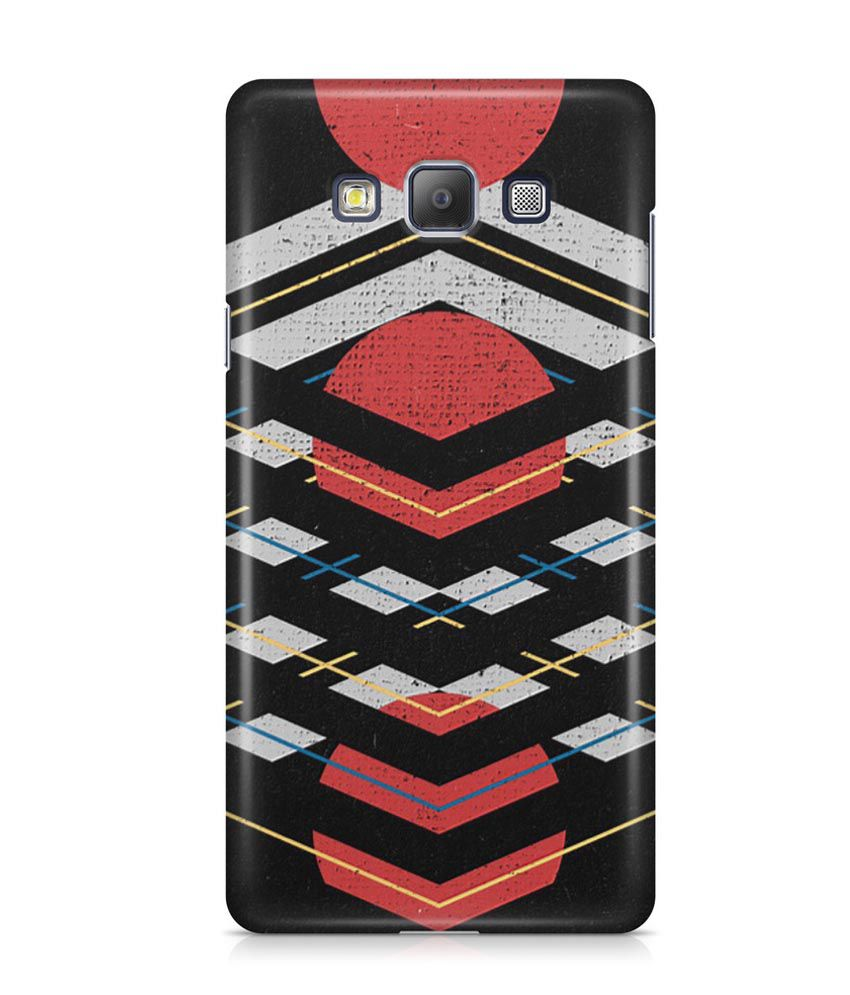 Cover Affair Printed Back Cover for Samsung Galaxy A7 - Multicolour
