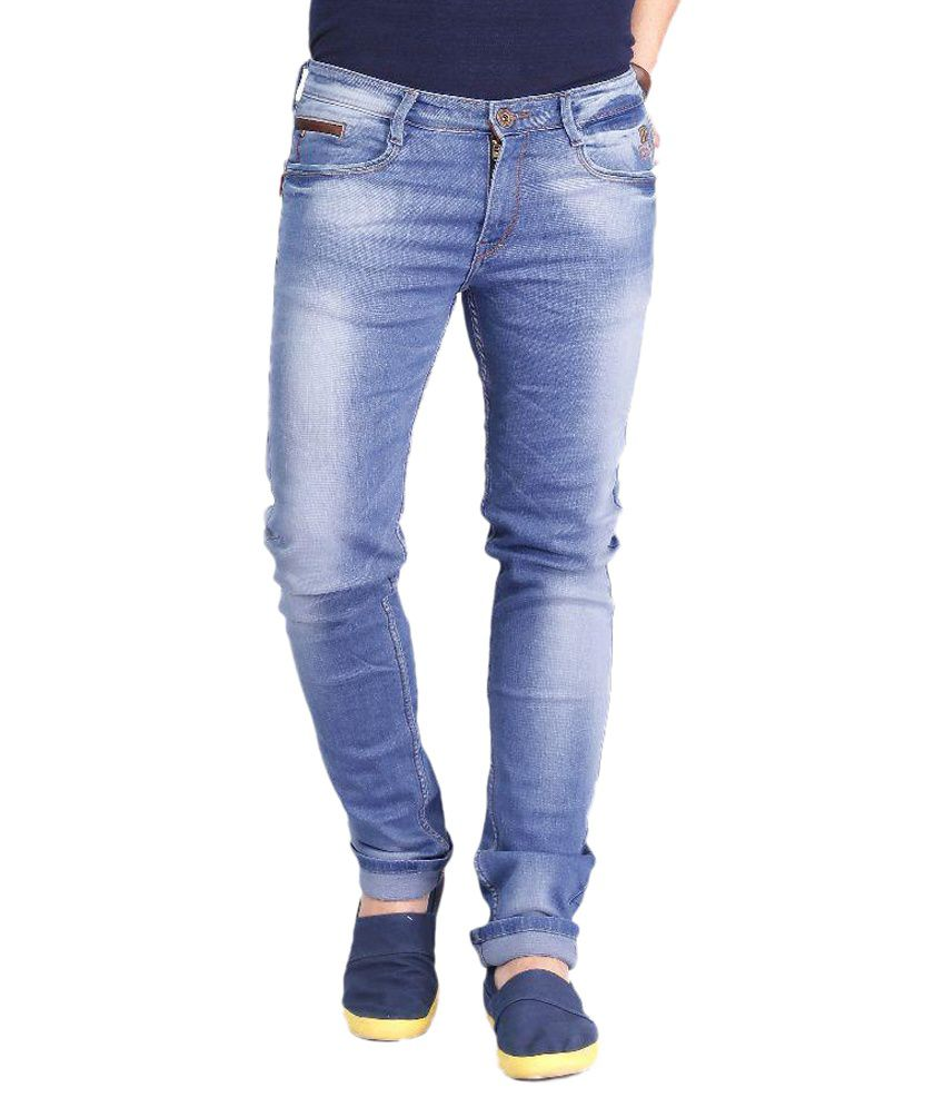 Nostrum Jeans Blue Slim Fit Washed Jeans