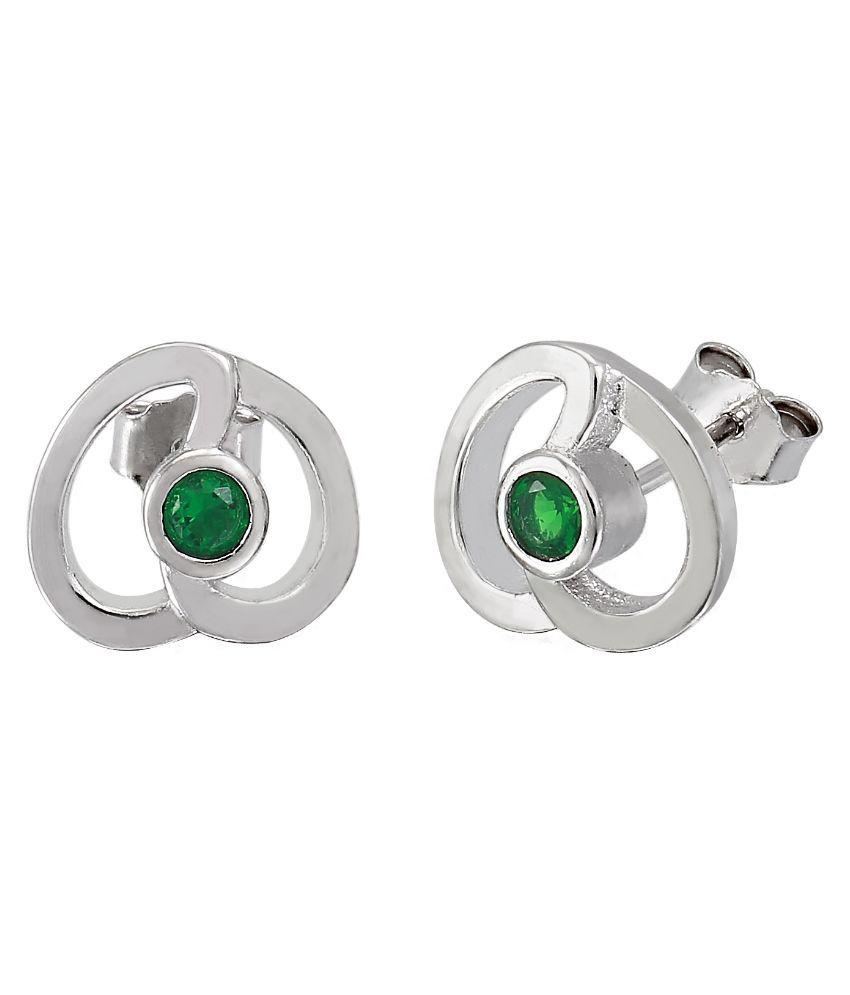 Shiyara Jewells 92.5 Sterling Silver Stud Earrings