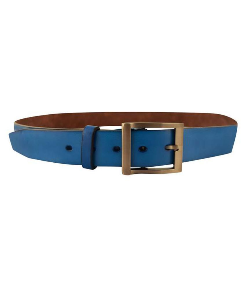 IPG Blue Leather Casual Belt for Men