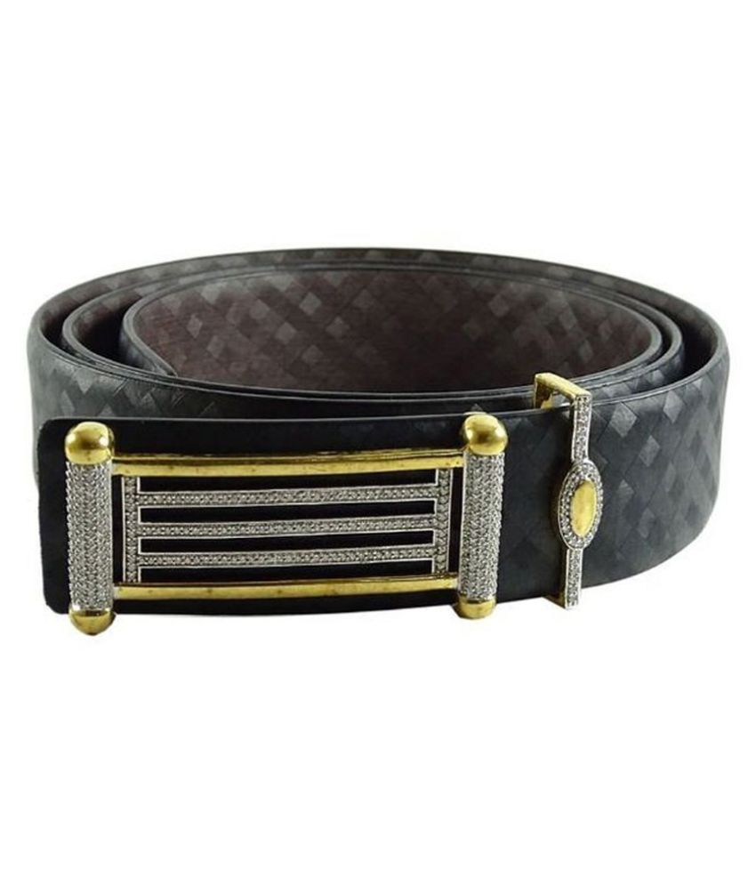 Morya Black Leather Belt for Men