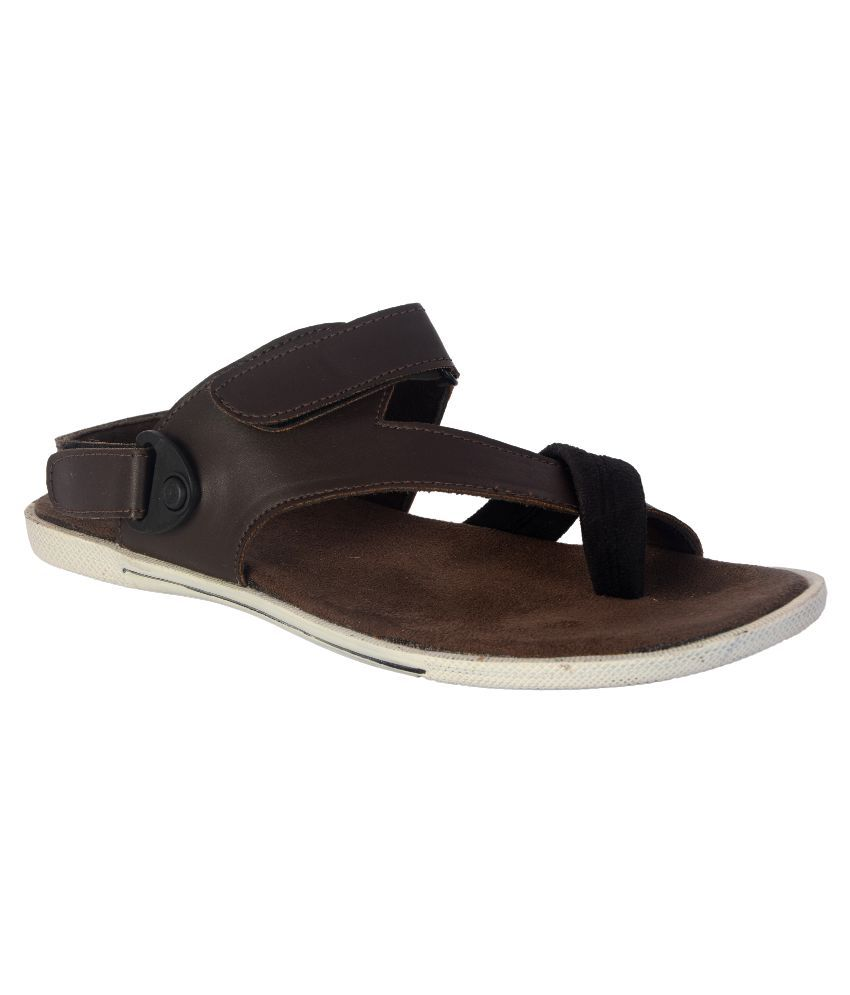 new product a96c8 cf276 Wallcruz Sandals Brown Sandals available at SnapDeal for Rs.598