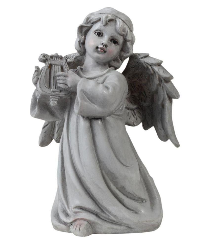Wonderland White Resin Angel Showpiece