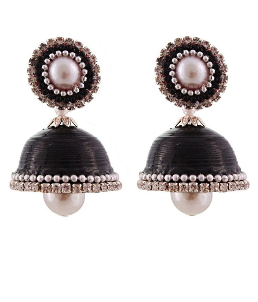 Yogya Mart Beads Studded Black Coloured Earrings