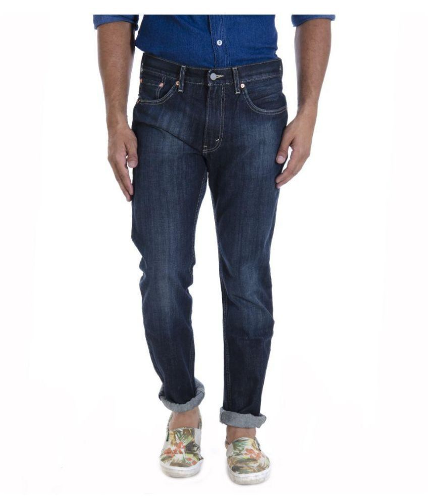 Levi's Navy Regular Fit Washed Jeans